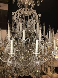 monumental german schonbek painted brass and crystal chandelier for 1