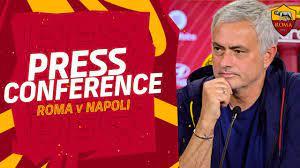 CONFERENZA STAMPA | José Mourinho alla vigilia di Roma-Napoli - YouTube