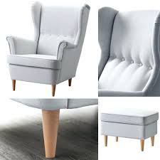 wing chairs ikea chair ottoman strandmon review full size