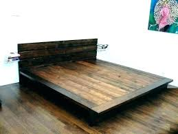 solid wood platform bed frame king diy size home improvement drop dead gorgeous so