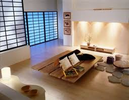 Japanese Style Living Room Furniture. Japanese-styled screens instead of  doors give this space a stylized look