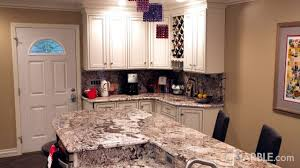 Antico Bianco Granite Kitchen Antico Kitchen Countertops With A Two Tier Island