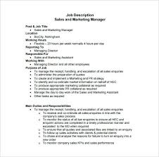 Assistant Marketing Manager Job Description This Template Serves As