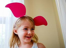 free printable piglet ears for a winnie the pooh celebration makes an easy piglet