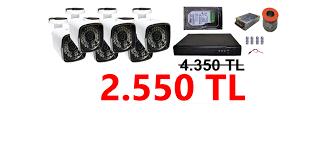 6 Kameralı Ev ve Ofis Dış Güvenlik Kamera Sistemi 2.550 TL - Milas Güvenlik  Kamera Sistemleri