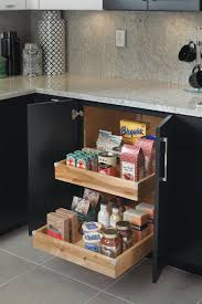 base cabinet with roll trays