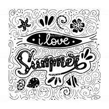 私は夏が大好きです夏の引用ホリデー グリーティング カードを手書き