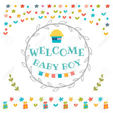 baby postcard baby boy shower card welcome baby boy baby boy arrival postcard