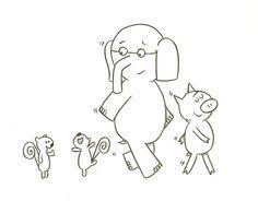 Small Picture Elephant And Piggie Coloring Page Kid stuff Pinterest Mo