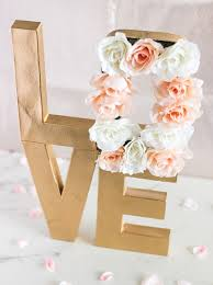 Flower Paper Mache How To Make Paper Mache Floral Letter Centerpiece Snapguide