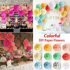 Hanging Paper Flower Backdrop 20 30 40cm Paper Flower Backdrop Wedding Party Hanging Wall