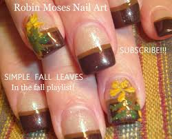 Easy Fall Leaf Nail Art | Thanksgiving Nails Design Tutorial - YouTube
