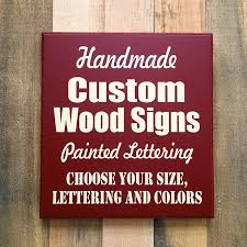 custom wood signs made to order wood signs