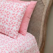 safari pink single duvet cover cot bed set