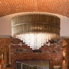 modern antique brass italian chandelier with murano glass drops