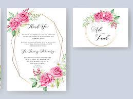 Wedding Invitation Template Elegant Watercolor Floral Wedding Invitation Template By