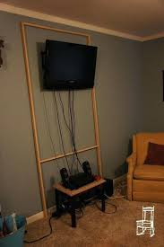 panel inspiration for wall build a wood frame stretch canvas over it to hide the mounting unit and cables tv cords how above brick fireplace