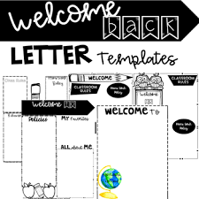 Welcome Back To School Letter Templates Welcome Back To School Letter Template Teaching Resources Teachers