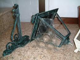 Sedie In Ferro Battuto Ebay : Applique lanterna in ferro battuto e vetro a legnano kijiji