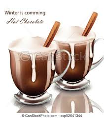 hot chocolate with whipped cream clip art. Brilliant Art Hot Chocolate Drink In Glasses Realistic Vector Whipped Cream Pourring  Beverage With Clip Art