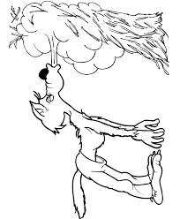 Three Little Pigs Coloring Page The Big Bad Wolf Blowing The Straw