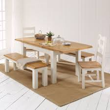 cotswold country cream painted dining table 2 chair 2 benches set the furniture market