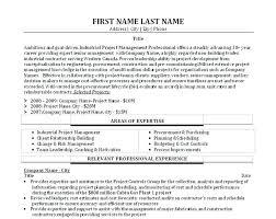 Resume Of Program Manager Program Manager Cover Letter Example