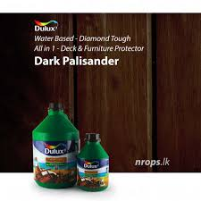 Dulux Woodcare Diamond Tough Water Based Exterior Deck Furniture Protector Dark Palisander
