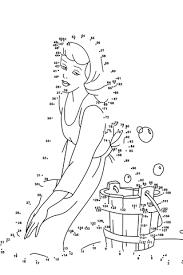 Disegno Di Cenerentola Da Colorare Unisci I Puntini E Stampare Gratis
