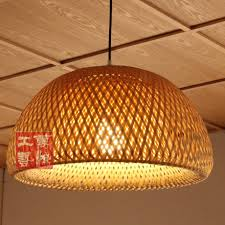 brown stain wall varnished wood brown stain wall varnished wood roof round knitted bamboo pendant light bamboo pendant lighting