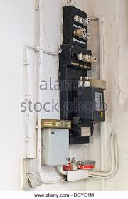 old fuses fuse box stock photos old fuses fuse box stock images old fuse box an electricity meter and electrical wiring on a wall in a basement