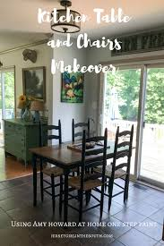 Amy Howard At Home One Step Paint Kitchen Table And Chairs Makeover Best Paint Dining Room Table Property