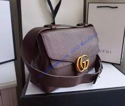 gucci gg marmont leather shoulder bag gu401173 brown luxtime dfo handbags