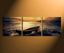 3 piece canvas art prints home decor ocean large canvas boat artwork  on boat canvas wall art with 3 piece group canvas boat canvas wall art panoramic multi panel