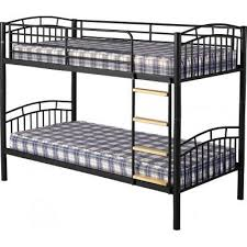 ventura 3u0027 metal bunk bed in black black metal bunk bed l7 black