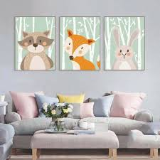 cy forest animal fox rabbit bear