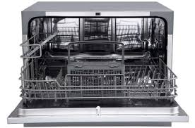 edgestar dwp62sv 6 place rated portable countertop dishwasher