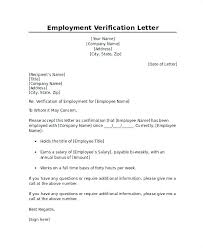 Letter Verification Of Employment Letter Proof Of Employment Letter Of Employee Verification