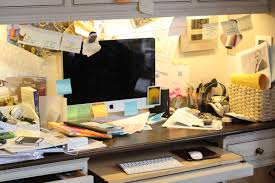 organizing office desk. Extremely Cluttered Office Desk Organizing