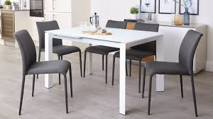 fully upholstered stackable fabric dining chairs uk for modern home grey and white dining chairs decor