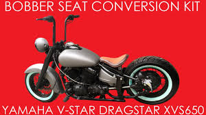xvs650 bobber seat solo conversion kit yamaha v star dragster bobbercycle