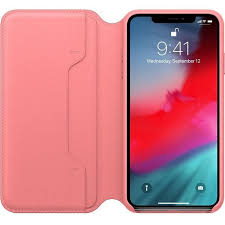 apple apple leather folio case for iphone xs max peony pink ato cayman mac t a alphasoft