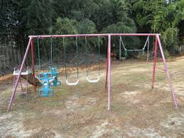 metal backyard playsets do you have an unused swing set in the backyard