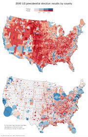 presidential elecion results u s presidential election results in two maps 2016 vivid maps