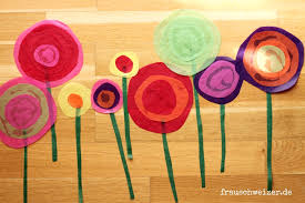 Fensterbild Frühling Blumen Frau Schweizer