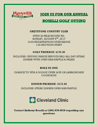 The Roselli Annual Golf Outing Information Rosellis