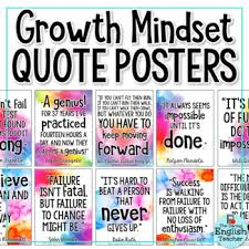 Growth Mindset Quotes Classy Growth Mindset Posters By The Daring English Teacher TpT