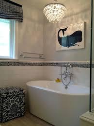 small glass chandelier for bathroom small freestanding bathtub bathroom transitional with bubble glass chandelier freestanding image small glass