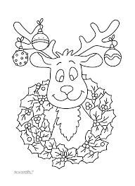 Kleurplaat Kerst Rendier Kers Crea Kerst Knutselen Kerst En