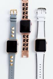 Designer Apple 4 Watch Bands Apple Watch Bands For The Fashion Set Studs Chainlink